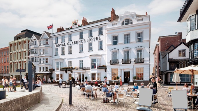 Design revealed for exeter s royal clarence hotel rebuild for Boutique hotels uk